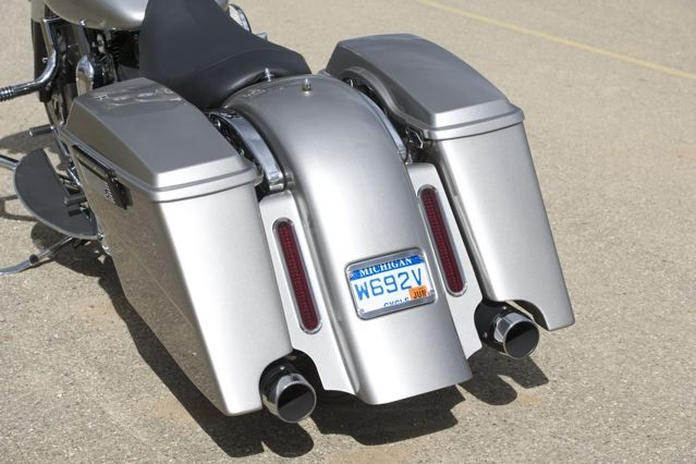 """Native STEEL fender w 3"""" S-Curve bags. Notice the custom trim on the bottom of the fillers."""