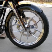 "American made steel shown on a 21"" tire"