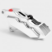 HHI 6 Piston Front Brake Calipers for 13 inch rotor applications - CHROME