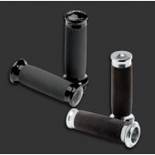 PM Contour grips in black or chrome.